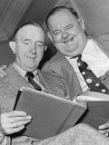 Comedy Duo Stan Laurel and Oliver Hardy Photographic Print