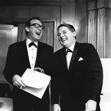 Comedian Eric Morecambe and Ernie Wise on Stage During a Comedy Routine Lámina fotográfica