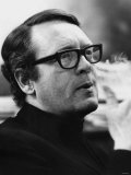 Patrick Mcgoohan British Actor Wearing Glasses Smoking June 1968 Photographic Print