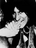 Rolling Stones Biting September 1977 Art Photography Andy Warhol Ronnie Wood Biting Into a Foot Fotografie-Druck
