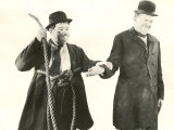 Laurel and Hardy - Comedy Duo Stan Laurel and Oliver Hardy - a Scene from a Film Lámina fotográfica