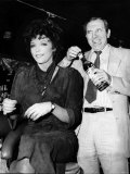 Leonard Rossiter Actor with Joan Collins in Cinzano Advert Photographic Print