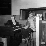 Brian Jones at Melotron Keyboard Sitting in the Olympic Recording Studio in Barnes Photographic Print