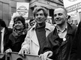 Gay Rights March February 1988: Actors Ian Mckellen and Michael Cashman Lmina fotogrfica
