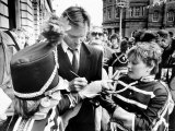 Rock Star Turned Film Star Sting, Beseiged by Autograph Hunters When He Returned to the North East Photographic Print