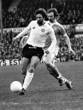 Blackpool V Bolton: Peter Nicholson Beats Bob Hatton in This Race For the Ball. c.1980 Photographic Print