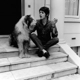 Paul Mccartney June 1967 Singer with the Beatles at His St John's Wood House with His Dog Photographie
