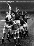 England vs Wales Rugby Union International Welsh Line Out Jumper Photographic Print
