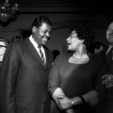 Ella Fitzgerald Jazz Singer - May 1958 with Jazz Pianist Oscar Peterson Photographic Print