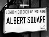 Tv Programme: Eastenders December 1985 Albert Square London Borough of Walford E20 Logo Photographic Print