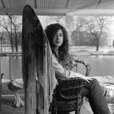 Guitarist Jimmy Page of Led Zeppelin's Birthday, January 9th Lámina fotográfica
