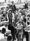 Teenoso and Lester Piggott Winning the Derby Photographic Print