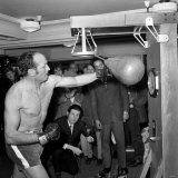 """BBC Early Morning Program """"Morning Show"""" Explain to Listeners about Henry Cooper Photographic Print"""