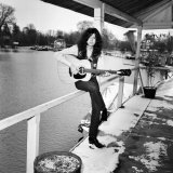 Jimmy Page of Band Led Zeppelin, January 1970 Fotografisk tryk