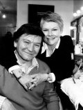 Judi Dench Actress with Husband and Fellow Actor Michael Williams Fotografie-Druck