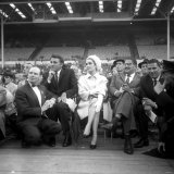 Elizabeth Taylor and Richard Burton Watch Fight Between Henry Cooper and Casius Clay at Wembley Photographic Print