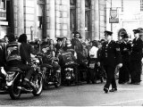 Mods and Rockers with Motorbikes Photographic Print