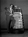 Terry Nation with His Creation the Dalek Science Fiction Photographic Print
