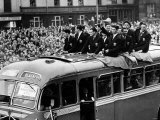 Bolton Wanderers Team Return Home After Losing to Blackpool Photographic Print