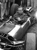 British Grand Prix 1965 Silverstone July 1965 John Surtees Sits in His Ferrari Number 1 Car Photographic Print