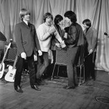 The Rolling Stones Before Their Performance at the ABC Theatre in Belfast Photographic Print