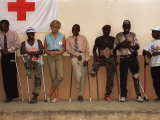 Princess Diana January 2001 Visits Landmine Victims at Orthopedic Centre Ruanda Angola Photographic Print