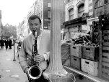 Jazz Performer Stan Getz at Ronnie Scott's Jazz Club, Master Tenor Saxophonist Photographic Print