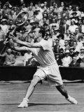 Tennis at Wimbledon: V.B. Mcgrath in Action c.1946 Photographic Print