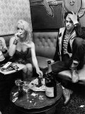 Boomtown Rats on Tour. Bob Geldof and Girlfriend Paula Yates. October 1979 - Fotografik Baskı