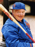 Benny Hill Actor Comedian in a Baseball Outfit Holding a Baseball Bat Photographic Print