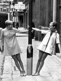 Model Twiggy Seen Here Modelling Mini Dress. July 1967 Photographic Print
