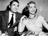 Lauren Bacall Actress - with Gregory Peck on the Set of the Film 'Designing Woman' Photographic Print