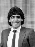 In London Argentina's Diego Maradona Before the Match at White Hart Lane. May 1986 Photographic Print