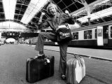 Jimmy Saville TV Presenter and Disc Jockey - at Victoria Station Photographic Print