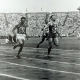 1948 Olympic Games Competitors Cross the Finishing Line in the Wembley Stadium Photographic Print