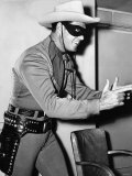 Actor Clayton Moore Plays the Lone Ranger in the Televisin Program Minus His Guns Photographic Print