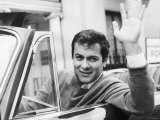 Tony Curtis Actor Waving from His Car Photographic Print
