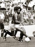 Manchester Uniteds George Best in Action Against Glentoran August 1982 Photographic Print
