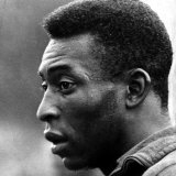 Brazil and Santos Football Star Pele Walks Along Tarmac Arriving at Ringway from London Airport Fotografisk tryk