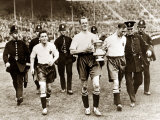 Fa Cup Final 1929 Bolton V Portsmouth Billy Butler, Jimmy Seddon and Jimmy Mcclelland Fotografie-Druck
