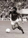 Football Player George Best in Action in an Exhibition Vetrans Match at Wembley Photographic Print