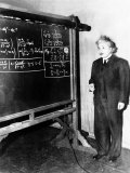 Professor Albert Einstein Giving a Lecture at the Carnegie Institute of Technology in Pittsburgh Lámina fotográfica
