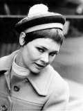 Actress Judi Dench Modelling Christian Dior Hat from the Spring Collection Called 'Cabaret' Photographic Print