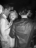 Marilyn Monroe with Husband Arthur Miller at London Airport, July 1956 Photographic Print