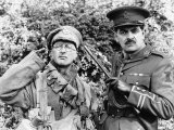 Tony Robinson and Rowan Atkinson in BBC Series Blackadder September 1989 Photographie