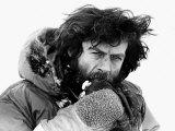 Sir Ranulph Twistleton Wykeham Fiennes Explorer at North Pole at Easter Photographic Print