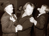 "Comedian Mel Smith with George Cole and Dennis Waterman During Filming of ""Minder"" Photographic Print"