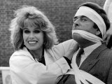 Actor Joanna Lumley with Terry Wogan the TV Presenter, November 1988 Photographie