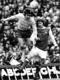 David Nish of Derby County Heads Ball from Alan Ball of Arsenal During Their League Match Photographic Print
