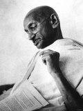 Mahatma Gandhi Aged 77 Years Old c.1936 Fotografisk tryk